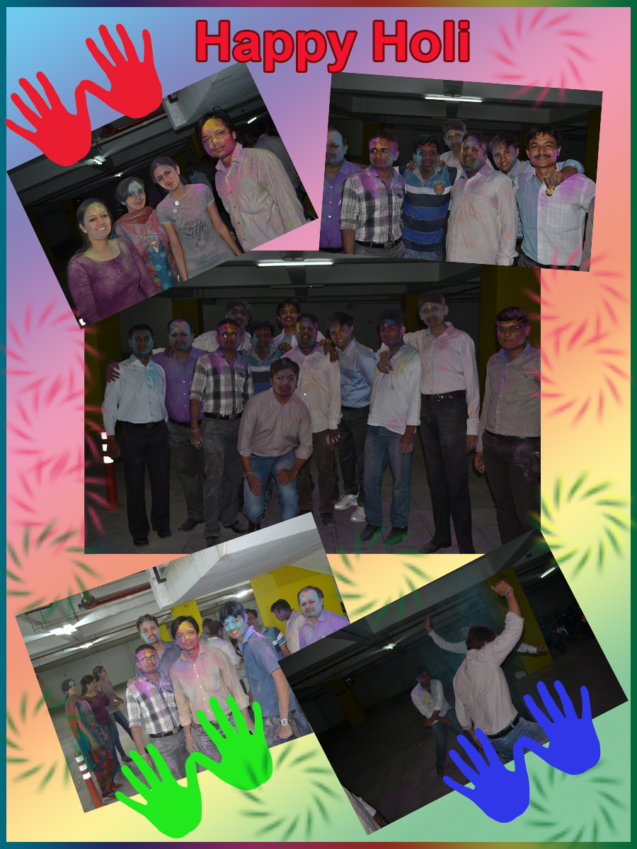 Holi Celebration in Office at Rightway Solution
